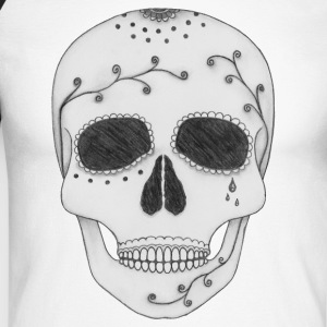 Day of the Dead Sugar Skull - Men's Long Sleeve Baseball T-Shirt