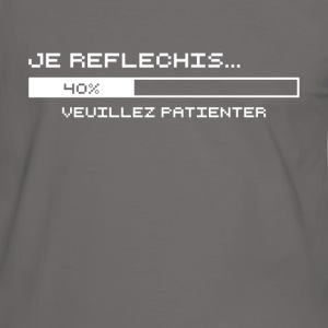 Je Reflechis... (blanc) Tee shirts - T-shirt contraste Homme