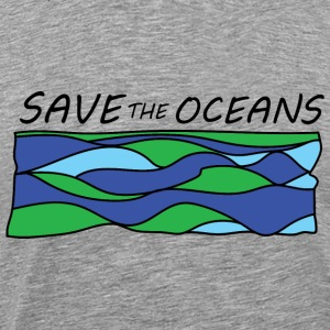 save the oceans Tee shirts - T-shirt Premium Homme