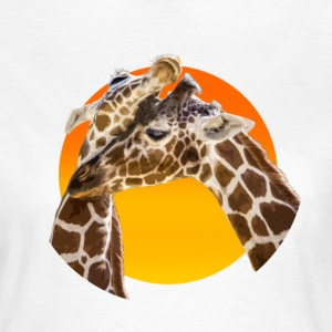 Giraffes in Love - Sunset Frauen-T-Shirt - Frauen T-Shirt