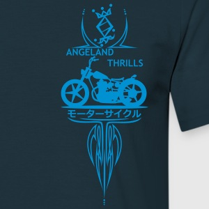 Angeland Thrills - Light Blue Small logo in front - Men's T-Shirt