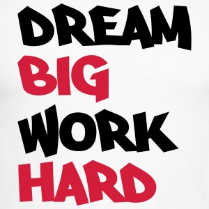Dream big, work hard Skjorter med lange armer - Langermet baseball-skjorte for menn