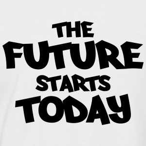The future starts today T-shirts - Mannen baseballshirt korte mouw