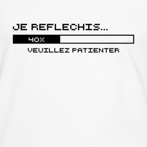 Je Reflechis (noir) Tee shirts - T-shirt contraste Homme
