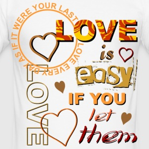 Love is easy - helle Shirts T-Shirts - Männer Slim Fit T-Shirt