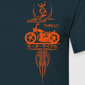 Angeland Thrills - Orange Small logo in front - Men's T-Shirt