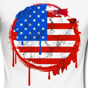 usa grunge flag Manches longues - T-shirt baseball manches longues Homme