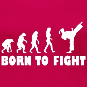born to fight evolution frauen T-Shirts - Frauen Premium T-Shirt