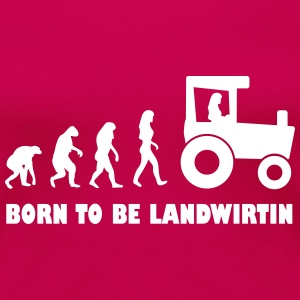 born to be landwirtin frauen T-Shirts - Frauen Premium T-Shirt