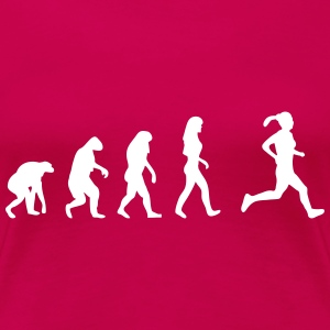 jogging evolution frauen T-Shirts - Frauen Premium T-Shirt