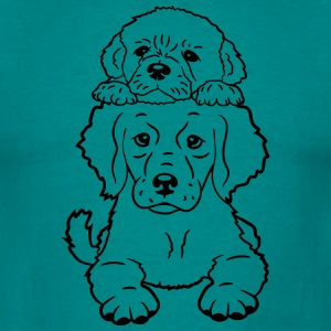 2 small this puppy soil wall T-Shirts - Men's T-Shirt