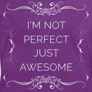I'm Not Perfect Just Awesome (blanc) Tee shirts - T-shirt contraste Femme