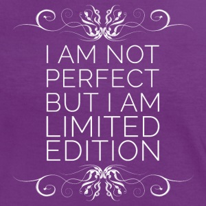I Am Not Perfect But I'm Limited Edition (blanc) Tee shirts - T-shirt contraste Femme