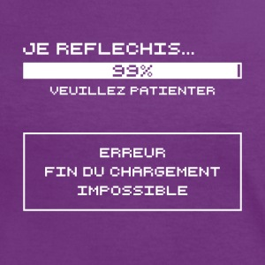 Je Reflechis...Erreur (blanc) Tee shirts - T-shirt contraste Femme