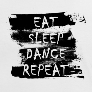 Eat Sleep Dance Repeat (noir) Tee shirts - T-shirt contraste Femme