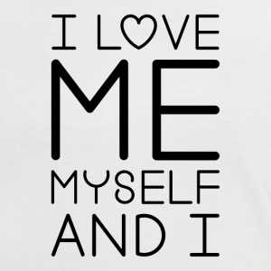 I Love Me Myself And I (noir) Tee shirts - T-shirt contraste Femme
