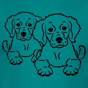 team friends 2 cute dogs T-Shirts - Men's T-Shirt
