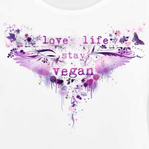 love life / stay vegan Funktionsshirt [pink] - Frauen Tank Top atmungsaktiv