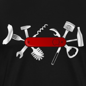 Mænd Pocket Knife T-shirts - Herre premium T-shirt