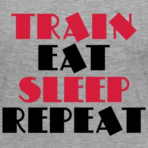 Train, eat, sleep, repeat Long Sleeve Shirts - Women's Premium Longsleeve Shirt