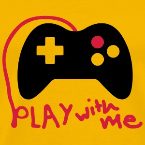 Play with me / Konsole / Gaming / Controller - Männer Premium T-Shirt