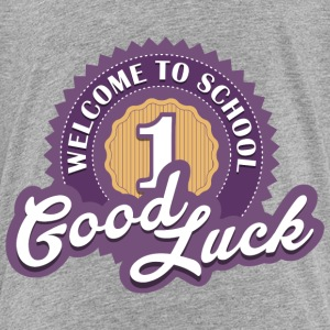 Welcome to School (Violet) T-Shirts - Kinder Premium T-Shirt