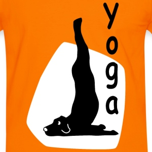 Yoga Dog Looking - Men's Ringer Shirt
