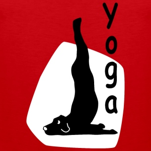 Yoga Dog Looking - Tank top premium hombre