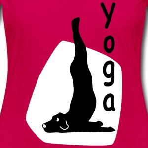 Yoga Dog Looking   - T-shirt manches longues Premium Femme