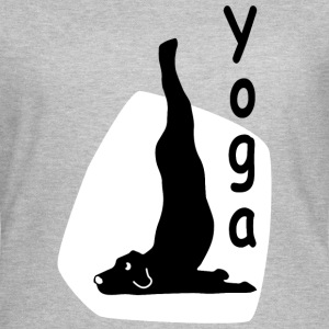 Yoga Dog Looking   - T-shirt Femme