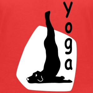 Yoga Dog Looking   - Women's V-Neck T-Shirt