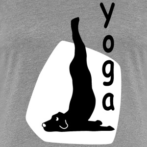 Yoga Dog Looking   - Women's Premium T-Shirt