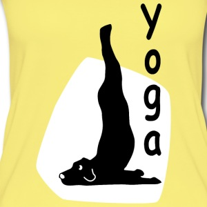 Yoga Dog Looking   - Frauen Bio Tank Top