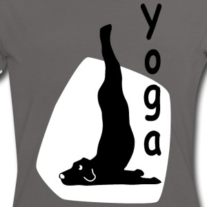 Yoga Dog Looking - Women's Ringer T-Shirt
