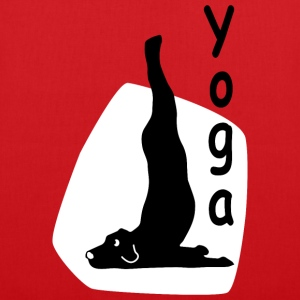 Yoga Dog Looking   - Stoffbeutel