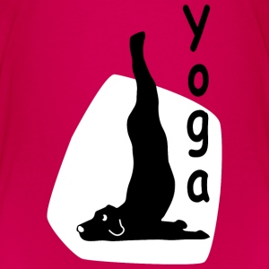 Yoga Dog Looking   - Kinder Premium T-Shirt