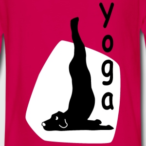 Yoga Dog Looking - Camiseta de manga larga premium adolescente