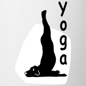 Yoga Dog Looking   - Taza