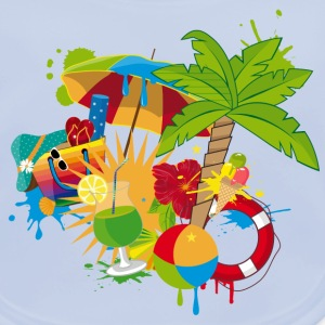 colorful holiday season Accessories - Baby Organic Bib