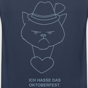 Grumpy bavarian cat Tank Tops - Men's Premium Tank Top