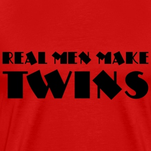 Real men make twins T-shirts - Herre premium T-shirt