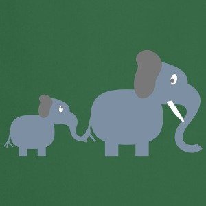 elephant and baby Tabliers - Tablier de cuisine
