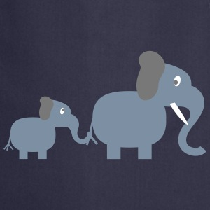 elephant and baby  Aprons - Cooking Apron
