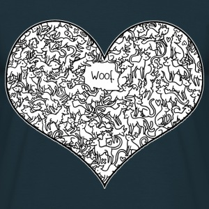 Marine A Heart Full of Woof Tee shirts - T-shirt Homme
