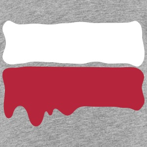 Runny paint flag Poland Shirts - Teenage Premium T-Shirt