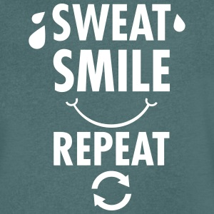 Sweat, Smile, Repeat Tee shirts - T-shirt Homme col V