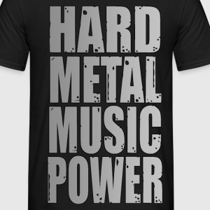 hard metal music power 02 Tee shirts - T-shirt Homme