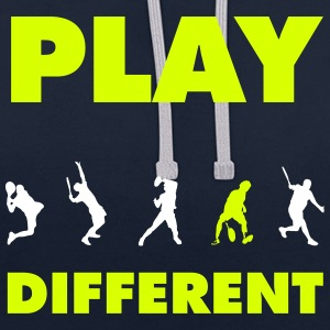 PLAY DIFFERENT 2 Pullover & Hoodies - Kontrast-Hoodie