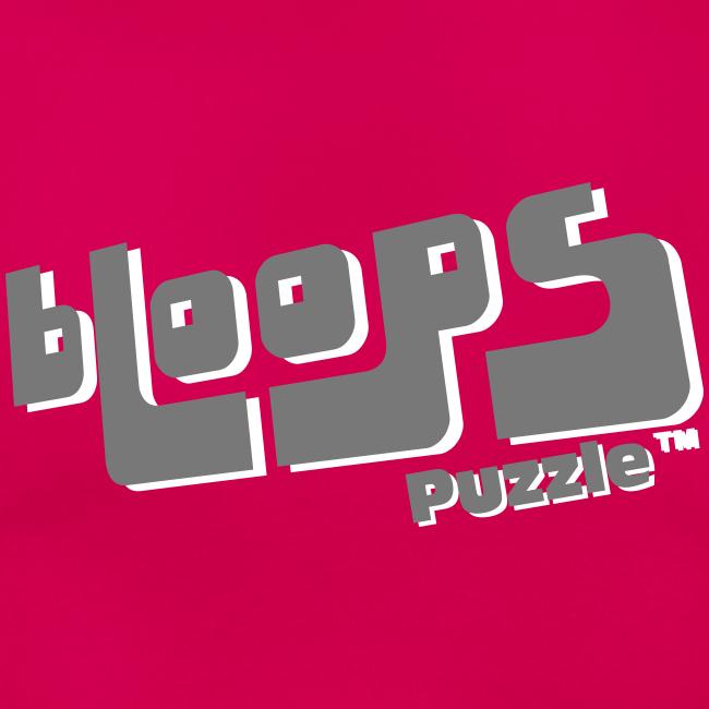 "Women's T-Shirt ""bLoops Puzzle"" (printed grey shadowed)"