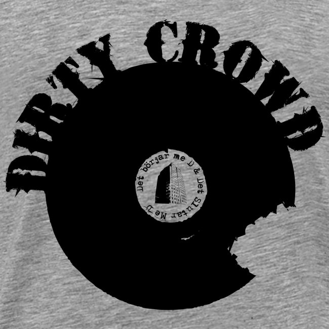 DIRTY CROWD TEE black print